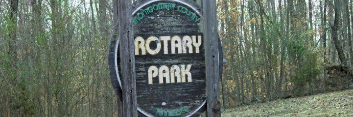 Rotary park historic sign